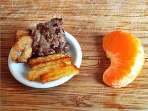 Mini Steak, Onion Rings & Chips