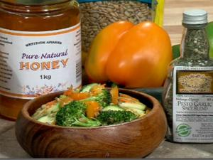 Marinated Pesto Veggie Salad - Easy Real Whole Food Fast - CFJC Midday