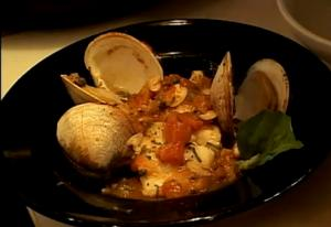 Baked Seafood in Tomato and Almond Sauce