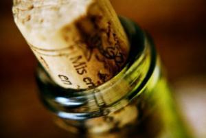 Wine bottle with cork