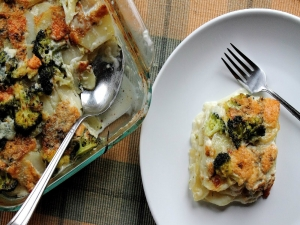 Potato and Broccoli Gratin with Gorgonzola