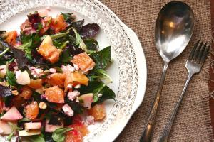 Mache and Citrus Salad