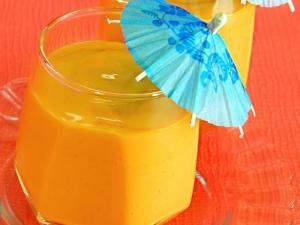 Mango and Orange Smoothie by Tarla Dalal