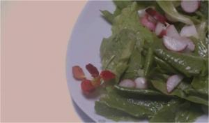 Lettuce and Radish Salad with Vinaigrette Dressing