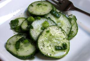 Sauteed Cucumber With Chives