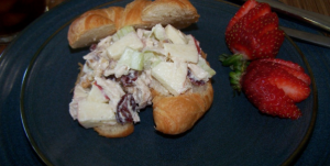 Healthy Chicken Salad with Apples Walnuts