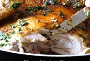Herb Roasted Chicken in Red Wine