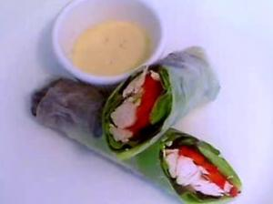 Chicken Caesar In Rice Paper Spring Rolls
