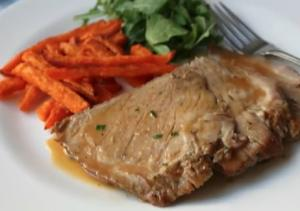 Slow Cooker Cider Braised Pork Roast