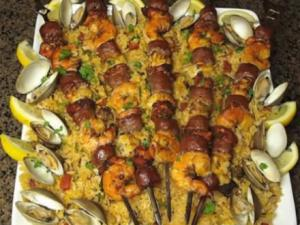 Planked Paella Kabobs