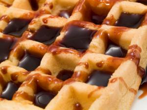 Easy Waffle With Chocolate