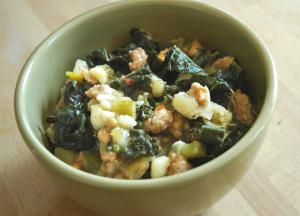Curly Kale And Sausage