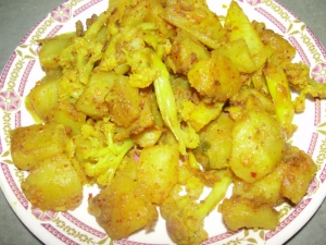 Spicy Aloo Gobi Sabzi