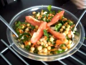 Chickpea Salad / Chana Masala Variation