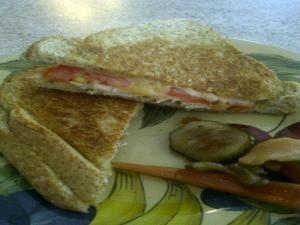 Grilled Cheese Chicken and Tomato Sandwiches