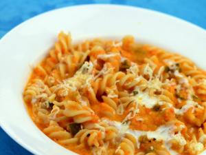 Fusilli with Red Pepper Sauce