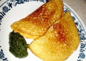 Khatta Puda or Pudla - Rice flour Dosa (Soury Rice Flour Pan Cakes)