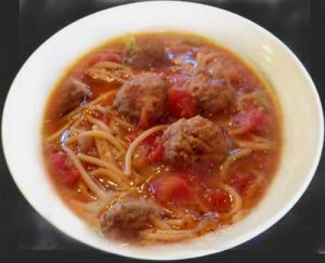 Basil Meatball Soup