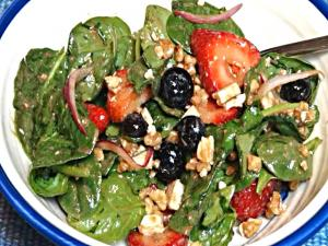 Spinach Salad with Berries & Toasted Walnuts