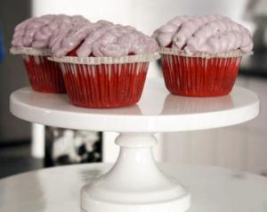 Anne Thornton's Red Velvet Brain Cupcakes