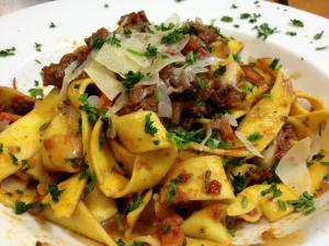 Lamb Ragout over Pappardelle Pasta