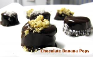 No Bake Dessert: Chocolate Banana Pops