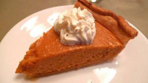 Simple Pumpkin Pie With Egg