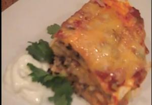 Creamy Mexican Lasagna