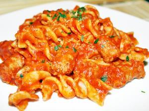 Italian Pasta Al Sugo Con Salsiccia