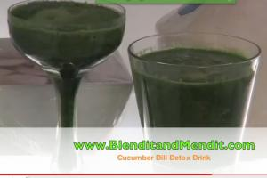 Cucumber and Dill Anti Aging Detox Drink