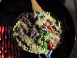 Venison Sausage Breakfast Burrito