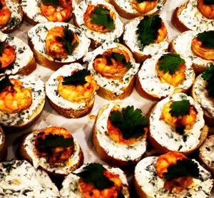 Italian Shrimp Salad Crostini