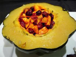Acorn Squash Rings Stuffed With Cranberries And Apples