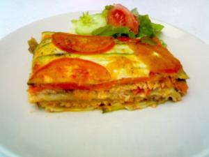 Super Veggie and Salmon Lasagna