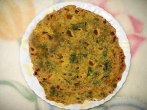 Gobi Palak Paratha