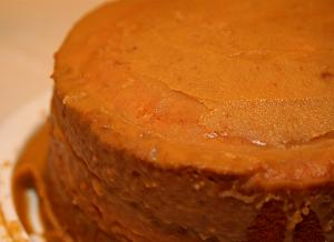 Clove Cake with Caramel Frosting