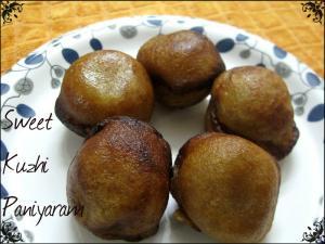 Chettinad Sweet Kuzhi Paniyaram