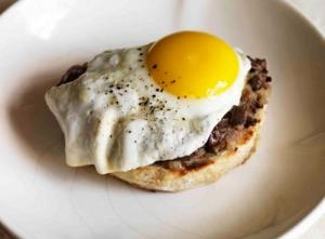 Mark Hix's Chopped Duck Livers on Toast with Fried Pheasant Egg