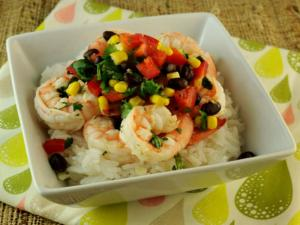Garlic Lime Shrimp with Black Bean and Corn Salad