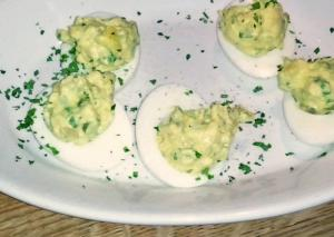 Mustard Stuffed Eggs