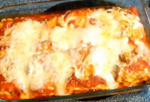 Italian Veg Lasagna Roll Ups