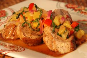 Pork Tenderloin with Warm Pineapple Salsa