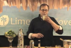 Lime Coconut Caiprinha Cocktail