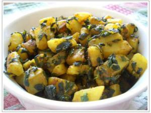 Spicy Aloo Methi Sabzi