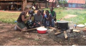 Cooking in Uganda
