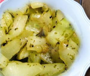 Cucumbers Saute