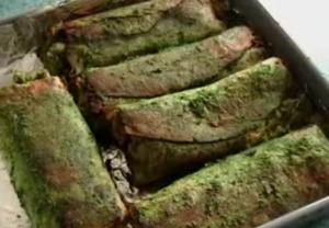 Burrittos With Green Chutney And Bean Dip