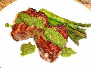 Grilled Lamb Chops with Cilantro Pesto