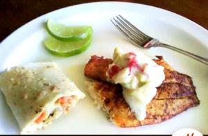 Tilapia Fish Tacos Part 1 - Filling the Taco