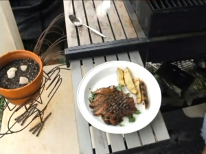 Black Pepper Crusted Flat Iron Steaks